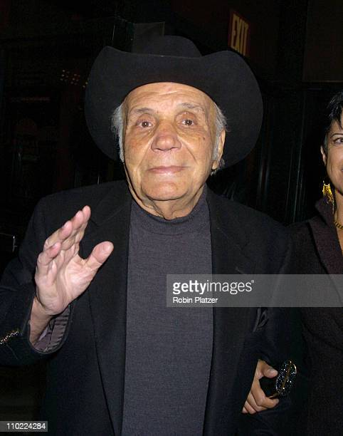 Jake LaMotta during 'Raging Bull' 25th Anniversary and Collector's Edition DVD Release Celebration at The Ziegfeld Theatre in New York New York...
