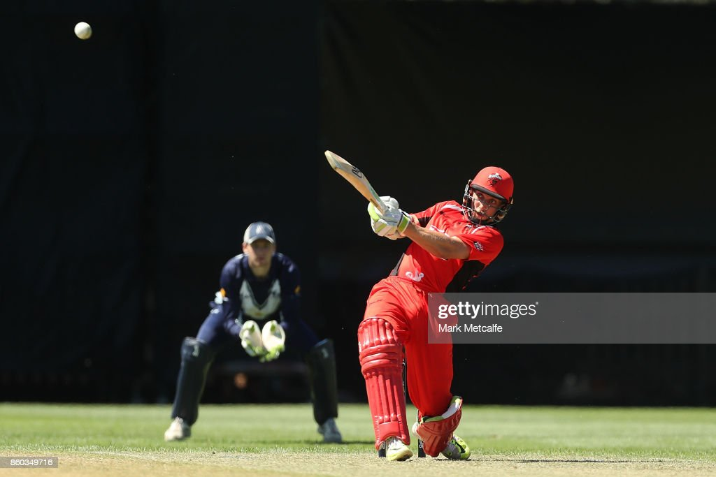 Jake Lehmann of the Redbacks bats during the JLT One Day Cup match between Victoria and South Australia at North Sydney Oval on October 12, 2017 in Sydney, Australia.