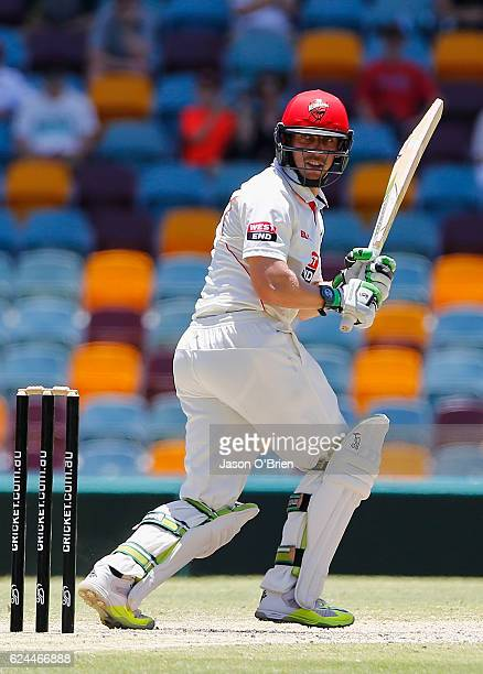 Jake Lehmann of the Redbacks in action during day four of the Sheffield Shield match between Queensland and South Australia at The Gabba on November...