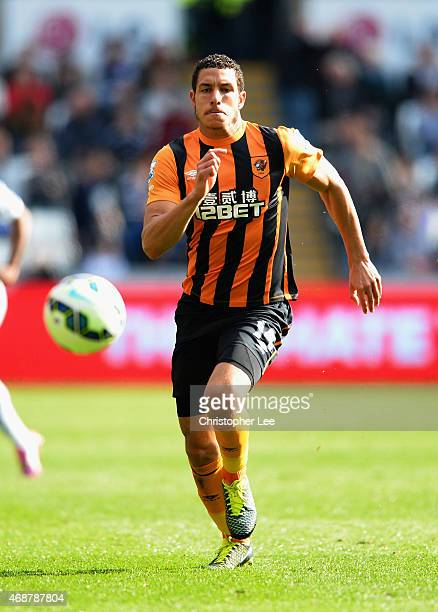 Jake Livermore of Hull City during the Barclays Premier League match between Swansea City and Hull City at Liberty Stadium on April 4 2015 in Swansea...