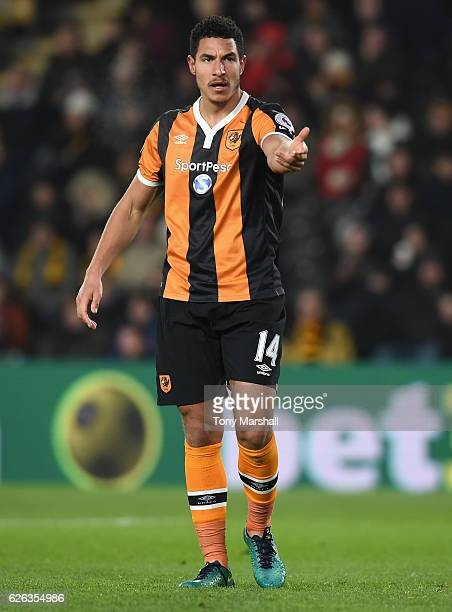 Jake Livermore of Hull City during the Premier League match between Hull City and West Bromwich Albion at KCOM Stadium on November 26 2016 in Hull...