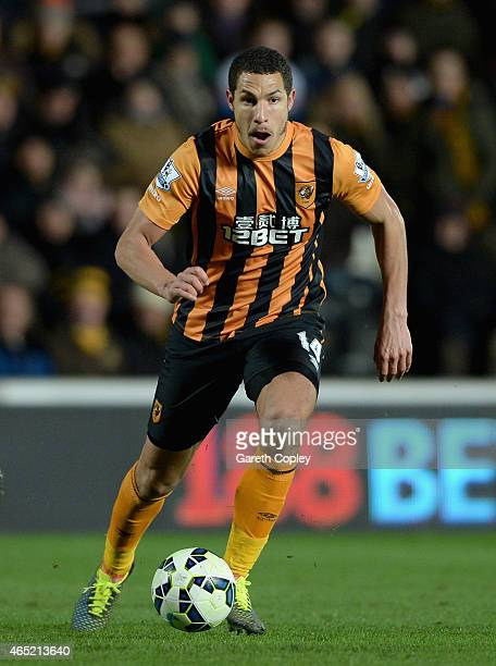 Jake Livermore of Hull City in action during the Barclays Premier League match between Hull City and Sunderland at KC Stadium on March 3 2015 in Hull...