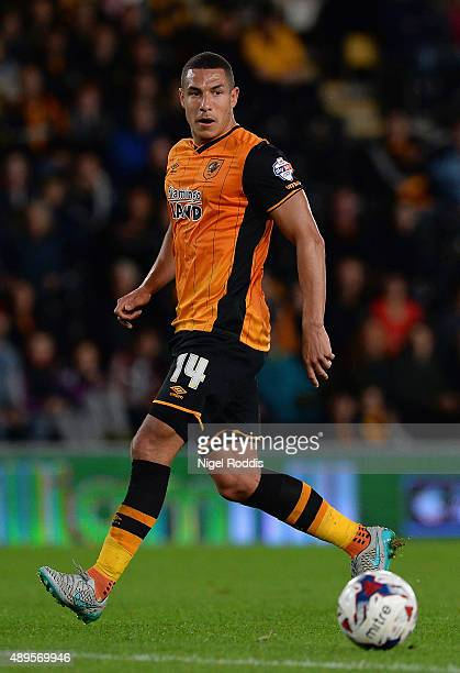 Jake Livermore of Hull City on the ball during the Capital One Cup third round match between Hull City and Swansea City at KC Stadium on September 22...