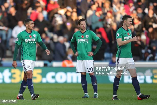 Jake Livermore of West Bromwich Albion and Grzegorz Krychowiak of West Bromwich Albion dejected after conceding during the Premier League match...