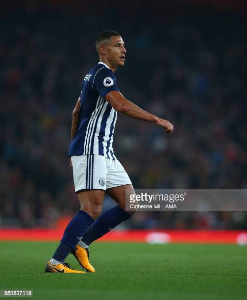 Jake Livermore of West Bromwich Albion during the Premier League match between Arsenal and West Bromwich Albion at Emirates Stadium on September 25...