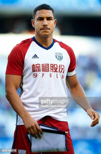 Jake Livermore of West Bromwich Albion looks on prior to the Pre Season Friendly match between Deportivo de La Corua and West Bromwich Albion at...