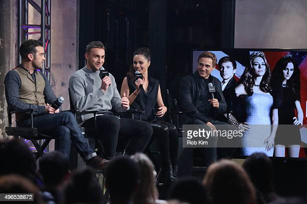 Jake Maskall Tom Austen Alexandra Park and William Moseley attend AOL BUILD Presents 'The Royals' at AOL Studios In New York on November 10 2015 in...