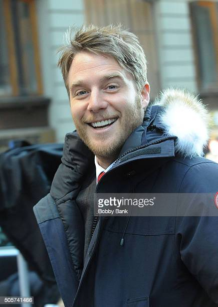 Jake McDorman on the set of 'Limitless' on January 19 2016 in New York City