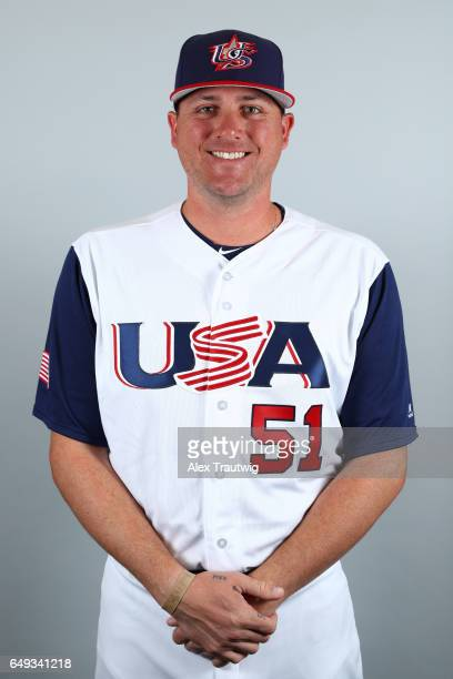 Jake McGee of Team USA poses for a headshot for Pool C of the 2017 World Baseball Classic on Tuesday March 7 2017 at Jet Blue Park in Fort Myers...