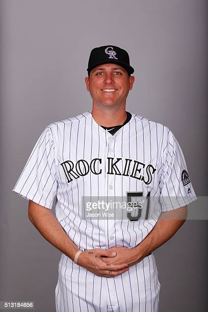 Jake McGee of the Colorado Rockies poses during Photo Day on Monday February 29 2016 at Salt River Fields at Talking Stick in Scottsdale Arizona