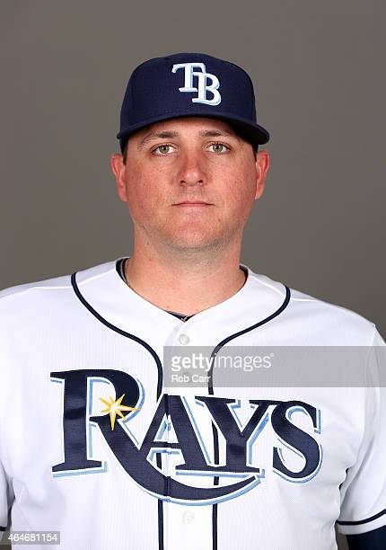 Jake McGee of the Tampa Bay Rays poses for a photo on photo day at Charlotte Sports Park on February 27 2015 in Port Charlotte Florida
