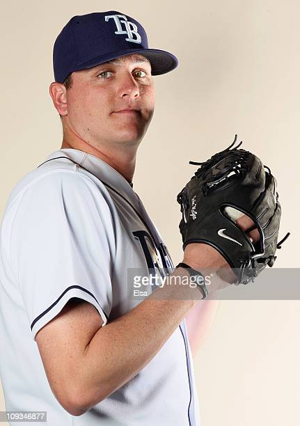Jake McGee of the Tampa Bay Rays poses for a portrait during the Tampa Bay Rays Photo Day on February 22 2011 at the Charlotte Sports Complex in Port...