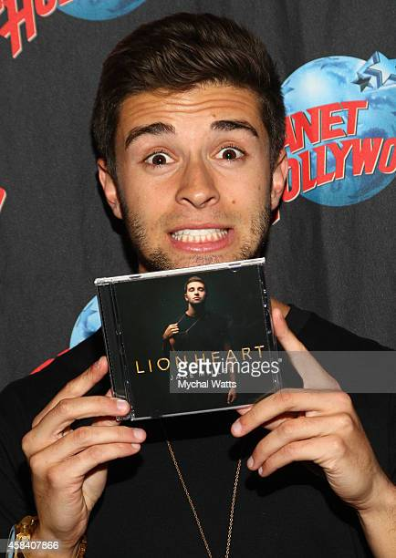 Jake Miller attends his CD signing for 'Lion Heart' at Planet Hollywood Times Square on November 4 2014 in New York City