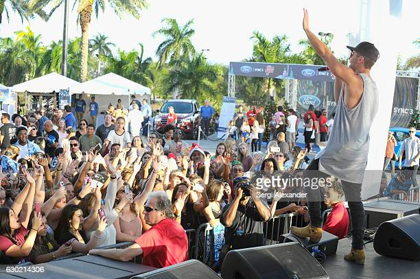 Jake Miller performs at the Y100's Jingle Ball 2016 PRE SHOW at BBT Center on December 18 2016 in Sunrise Florida