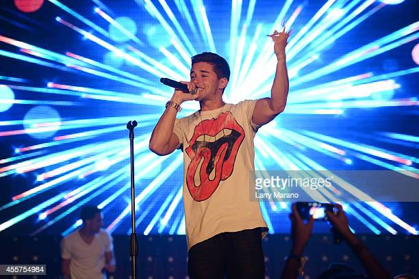 Jake Miller performs during the Y100 All About That Bass Party at Fontainebleau Miami Beach on September 19 2014 in Miami Beach Florida