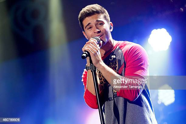 Jake Miller performs onstage during 933 FLZ's Jingle Ball 2014 at Amalie Arena on December 22 2014 in Tampa Florida