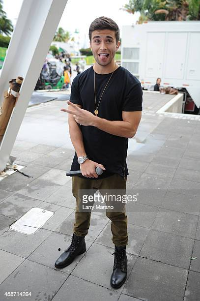 Jake Miller poses before his performance during the 2014 MTV EMA Kick Off at the Klipsch Amphitheater on November 9 2014 in Miami Florida