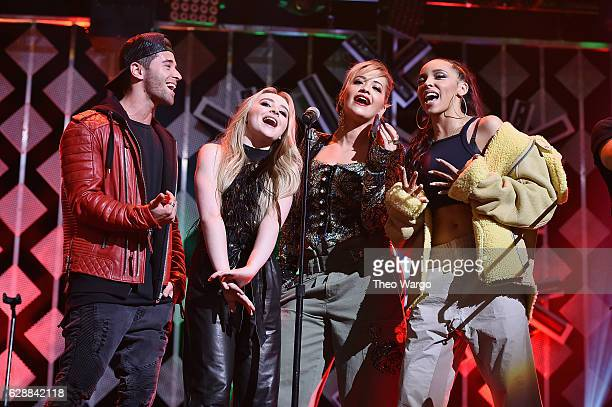 Jake Miller Sabrina Carpenter Rita Ora and Tinashe perform onstage during Z100's Jingle Ball 2016 at Madison Square Garden on December 9 2016 in New...