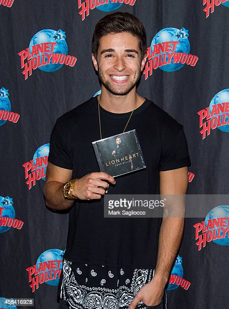 Jake Miller signs copies of his CD 'Lion Heart' at Planet Hollywood Times Square on November 4 2014 in New York City