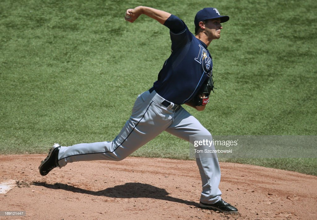 Jake Odorizzi #23 of the Tampa Bay Rays delivers a pitch during MLB game action against the Toronto Blue Jays on May 20, 2013 at Rogers Centre in Toronto, Ontario, Canada.