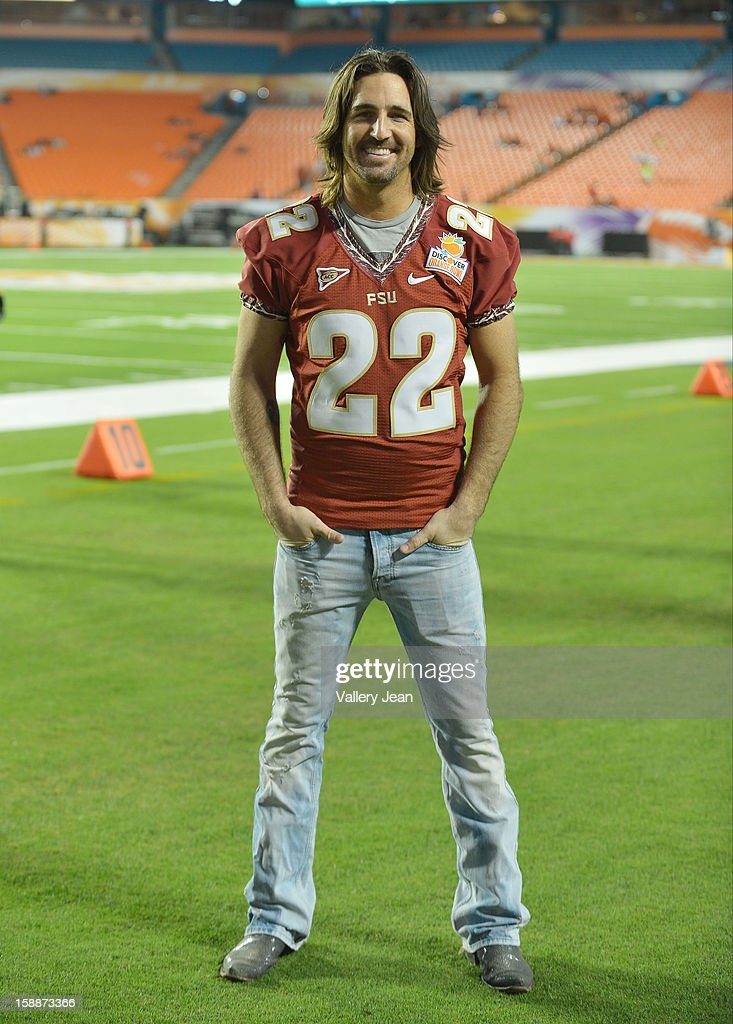 Jake Owen headlines the halftime show during the 2013 Discover Orange Bowl at Sunlife Stadium on January 1, 2013 in Miami, Florida.