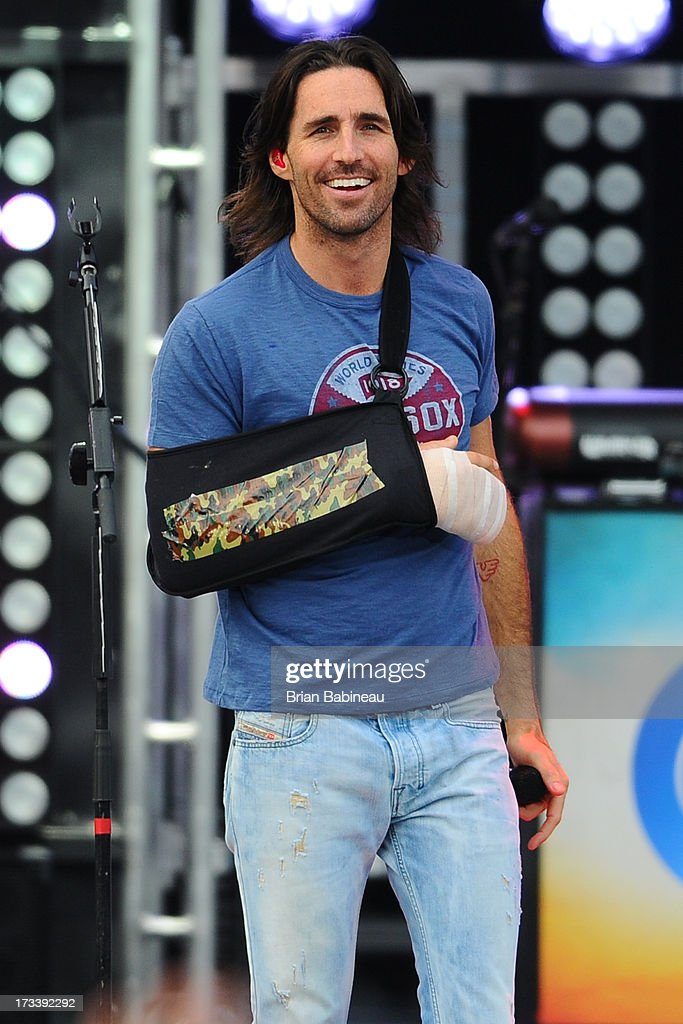 Jake Owen performs during the Night Train Tour 2013 at Fenway Park on July 20, 2013 in Boston, Massachusetts.