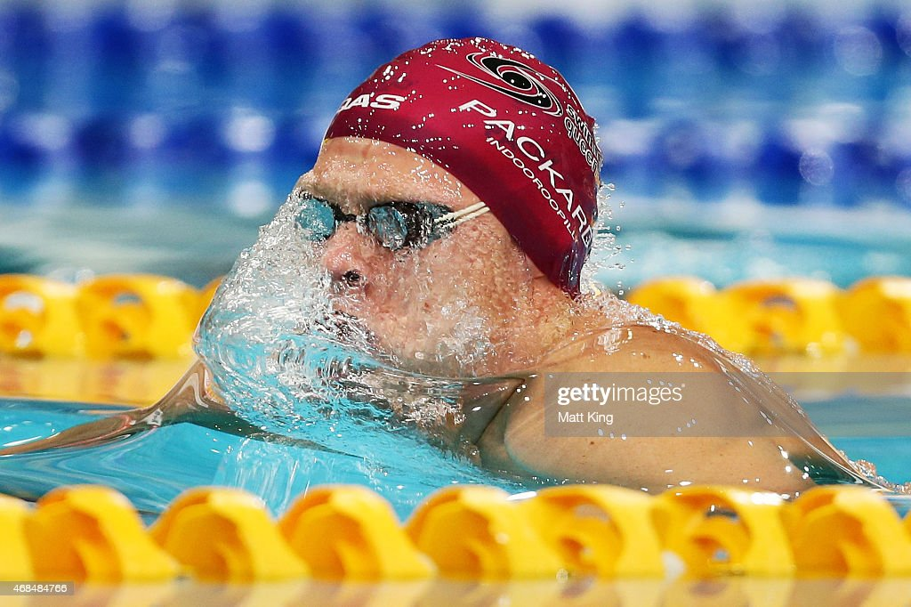 Jake Packard Competes In The Mens 100m Breaststroke Semi Final During Day One Of Australian