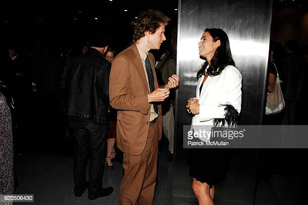 Jake Paltrow and Charlotte Sarkozy attend Opening of LIZA LOU's 'Maximum Security Fence' at LEVER HOUSE at Lever House on September 24 2008 in New...