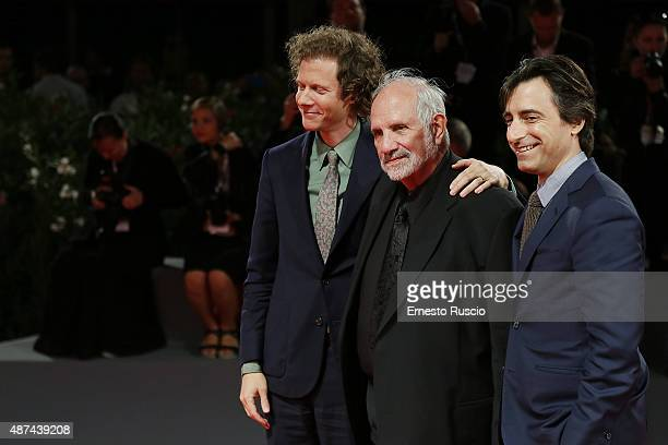 Jake Paltrow Brian De Palma and Noah Baumbach attend a premiere for 'De Palma' and JaegerLeCoultre Glory to the Filmmaker 2015 Award during the 72nd...
