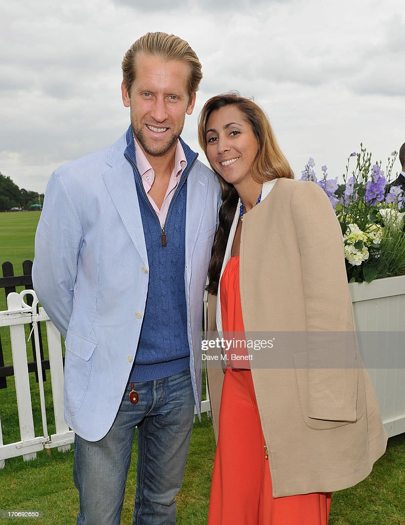 Jake Parkinson Smith and Samira Parkinson Smith attend the Cartier Queen's Cup Polo Day 2013 at Guards Polo Club on June 16, 2013 in Egham, England.
