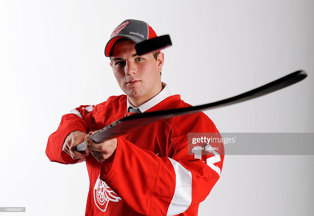 Jake Paterson, drafted 80th overall by the Detroit Red Wings, poses for a portrait during Day Two of the 2012 NHL Entry Draft at Consol Energy Center on June 23, 2012 in Pittsburgh, Pennsylvania.