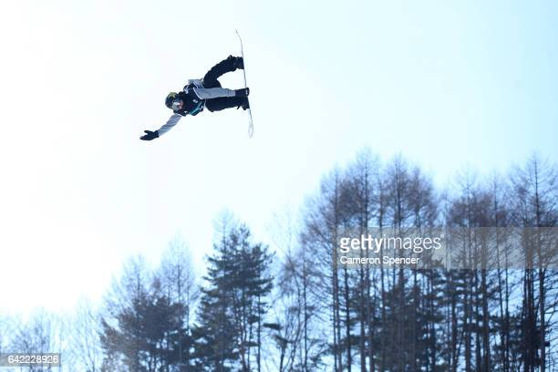 Jake Pates of USA competes in the FIS Freestyle World Cup Snowboard Halfpipe Qualification at Bokwang Snow Park on February 17 2017 in Pyeongchanggun...