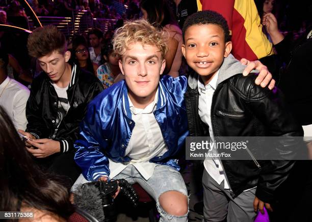 Jake Paul and Lonnie Chavis attend Teen Choice Awards 2017 at Galen Center on August 13 2017 in Los Angeles California