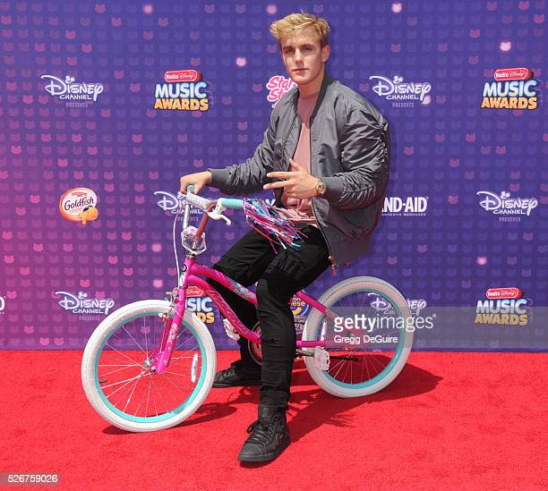 Jake Paul arrives at the 2016 Radio Disney Music Awards at Microsoft Theater on April 30 2016 in Los Angeles California