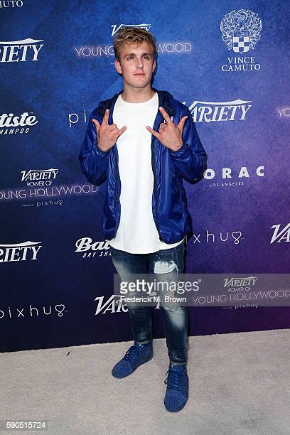 Jake Paul attends Variety's Power of Young Hollywood at NeueHouse Hollywood on August 16 2016 in Los Angeles California