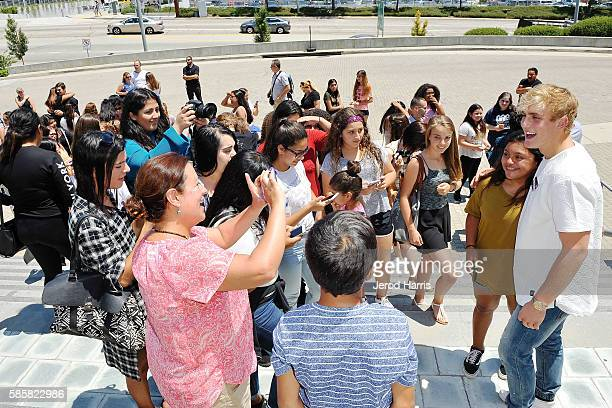 Jake Paul attends WORLDZ 2016 at Skirball Cultural Center on August 2 2016 in Los Angeles California