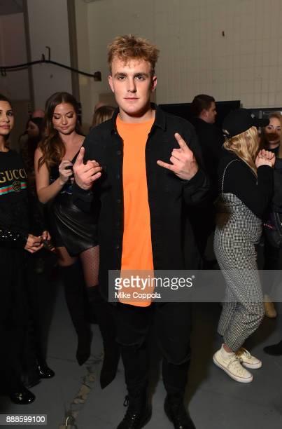 Jake Paul attends Z100's Jingle Ball 2017 backstage on December 8 2017 in New York City