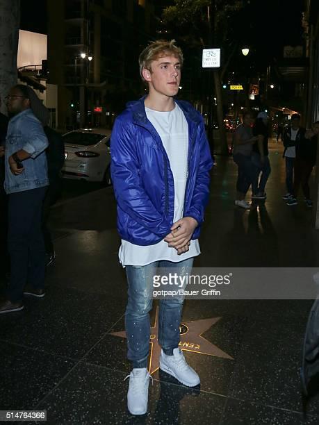 Jake Paul is seen on March 10 2016 in Los Angeles California