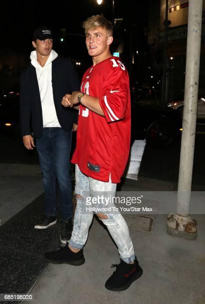 Jake Paul is seen on May 18 2017 in Los Angeles CA