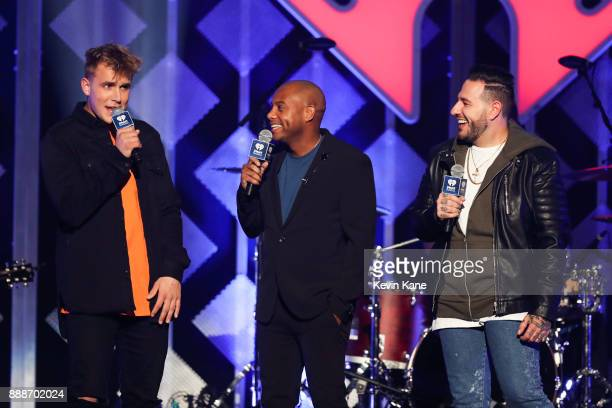 Jake Paul Maxwell and Mo' Bounce speak onstage during Z100's iHeartRadio Jingle Ball 2017 at Madison Square Garden on December 8 2017 in New York City