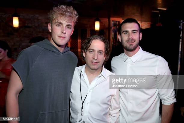 Jake Paul Republic Records President Charlie Walk and Kevin Gould at Republic Records VMA Party presented in partnership with FIJI Water at TAO at...