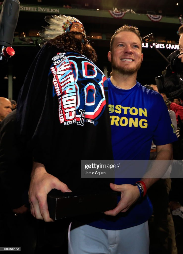 <a gi-track='captionPersonalityLinkClicked' href=/galleries/search?phrase=Jake+Peavy&family=editorial&specificpeople=211320 ng-click='$event.stopPropagation()'>Jake Peavy</a> #44 of the Boston Red Sox celebrates following a 6-1 victory over the St. Louis Cardinals in Game Six of the 2013 World Series at Fenway Park on October 30, 2013 in Boston, Massachusetts.