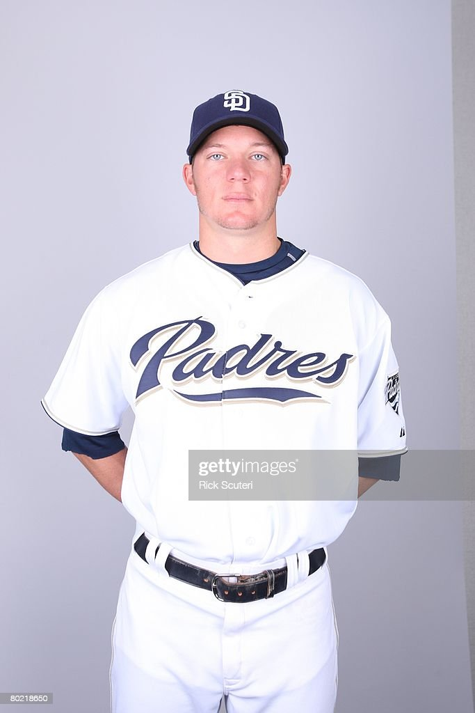 Jake Peavy of the San Diego Padres poses for a portrait during photo day at Peoria Stadium on February 22, 2008 in Peoria, Arizona.