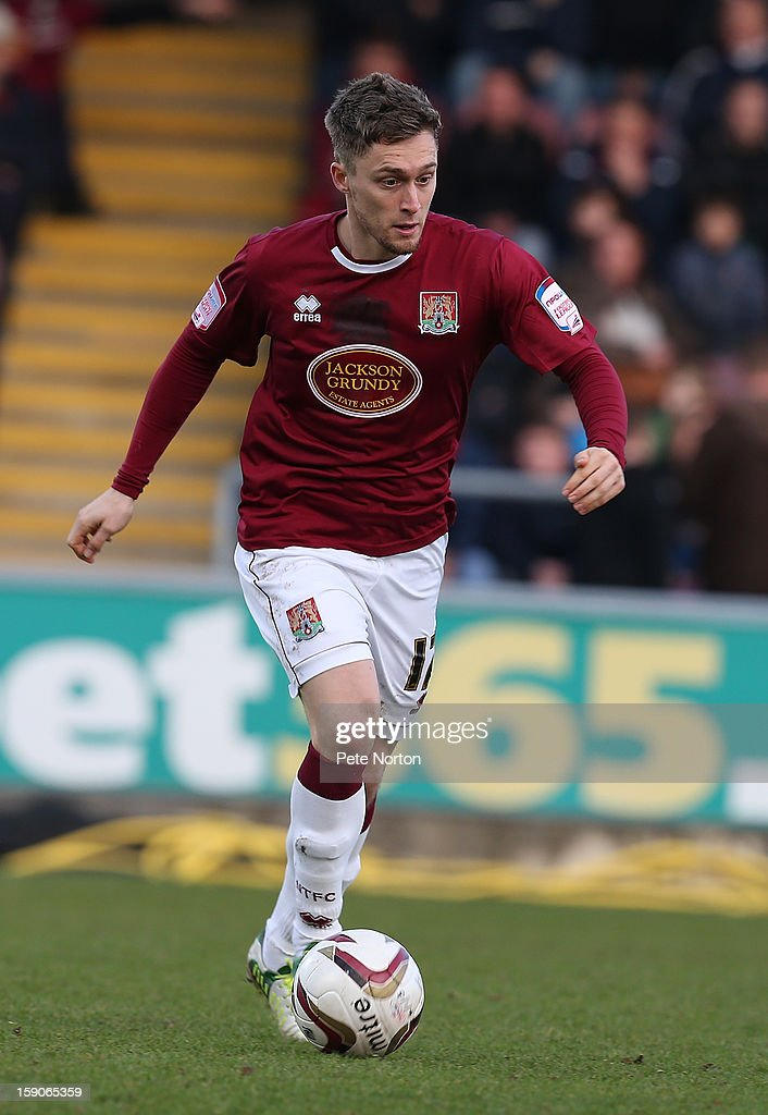 Jake Robinson of Northampton Town in action during the npower League Two match between Northampton Town and Fleetwood Town at Sixfields Stadium on January 5, 2013 in Northampton, England.