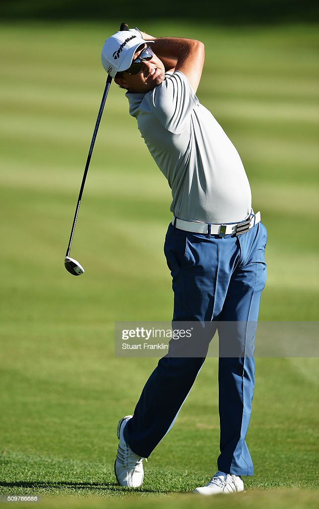 Jake Roos of South Africa plays a shot during the second round of the Tshwane Open at Pretoria Country Club on February 12, 2016 in Pretoria, South Africa.
