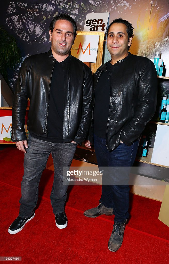 Jake Saady and Gilbert Chagoury at The Gen Art 14th Annual Fresh Faces In Fashion Presented By Moroccan oil held at Vibiana on October 17, 2012 in Los Angeles, California.