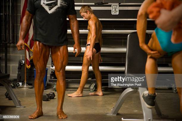 Jake Schellenschlager 14 backstage during the 2013 Musclemania Capitol Tournament of Champions in Silver Spring Maryland on May 18 2013 Jake was the...