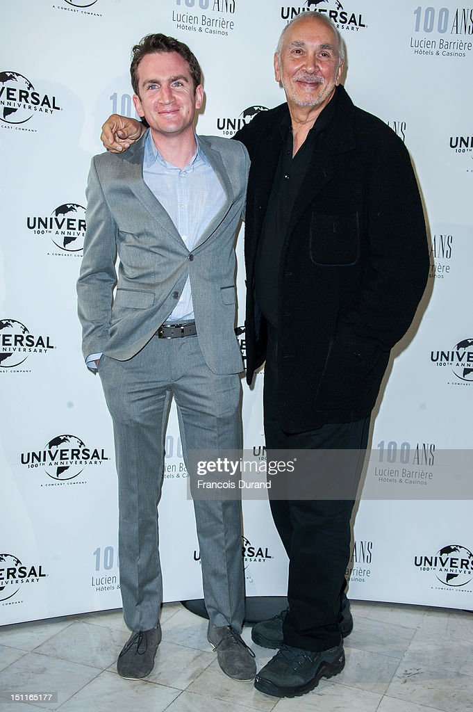 Jake Schreier (L) and <a gi-track='captionPersonalityLinkClicked' href=/galleries/search?phrase=Frank+Langella&family=editorial&specificpeople=223970 ng-click='$event.stopPropagation()'>Frank Langella</a> attend the 100th anniversary of Universal and Lucien Barriere at Royal Barriere hotel during the 38th Deauville American Film Festival on September 1, 2012 in Deauville, France.