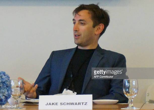Jake Schwartz CEO General Assembly speaks July 19 2017 during the Fortune Brainstorm Tech conference in Aspen Colorado / AFP PHOTO / ROB LEVER