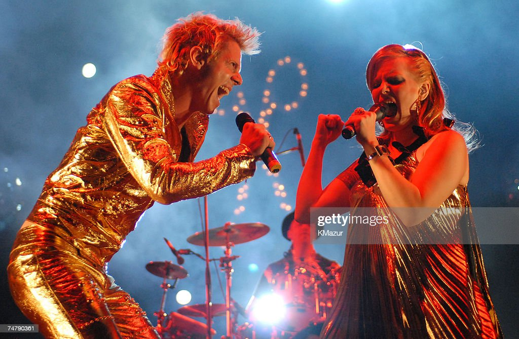 Jake Shears and Ana Matronic of Scissor Sisters at the Empire Polo Fields in Indio, California